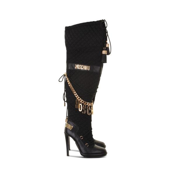 Moschino x H&M overknee laarzen (maat 40) - zijkant