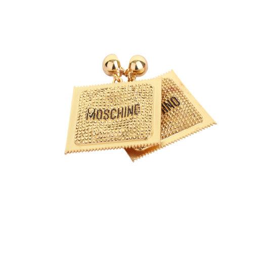 Moschino x H&M condom clip oorbellen - voorkant