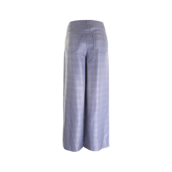 GANNI silk wool suiting wide pants - achterkant