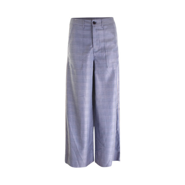 GANNI silk wool suiting wide pants - voorkant