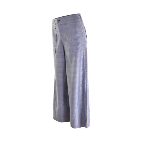 GANNI silk wool suiting wide pants - zijkant