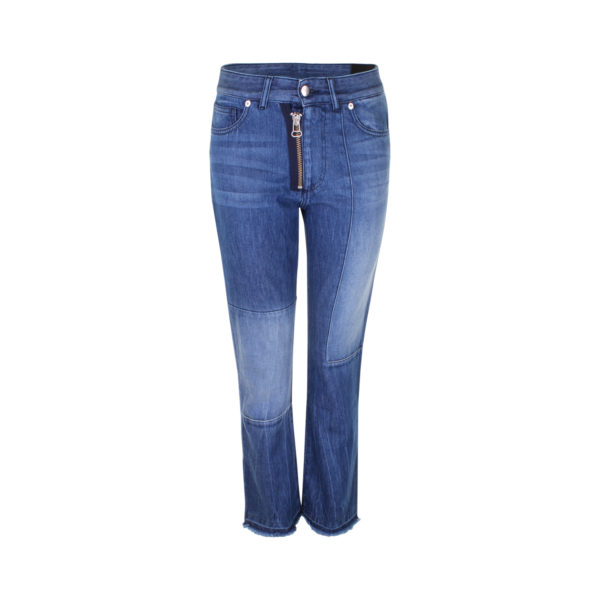 EACH X OTHER patchwork straight-leg jeans (maat S) - voorkant
