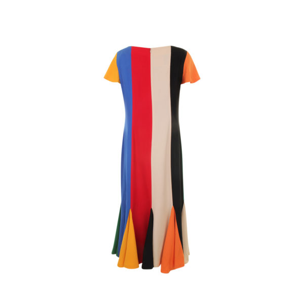 1980s Moschino Cheap & Chic Colored Dress (maat 40) - achterkant