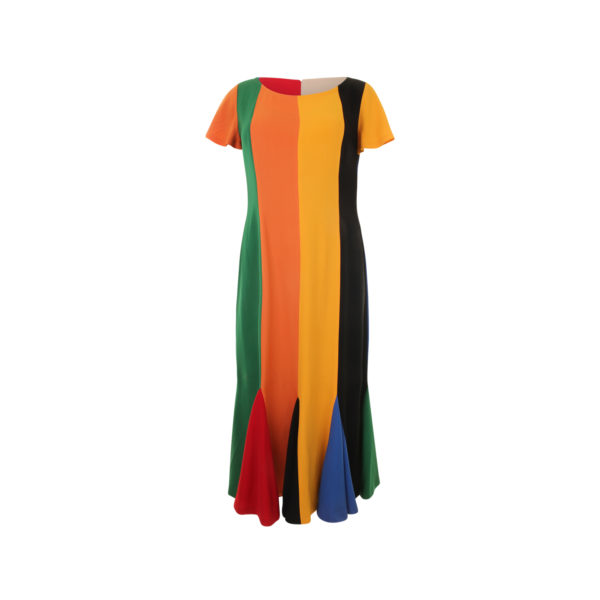 1980s Moschino Cheap & Chic Colored Dress (maat 40) - voorkant