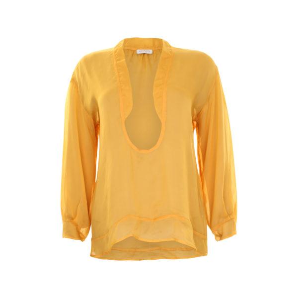 Dries van Noten silk blouse (size 38) - voorkant