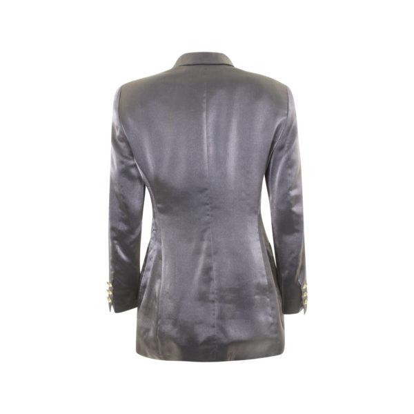 Escada Margaretha Ley Vintage silk blazer (size 36) - achterkant