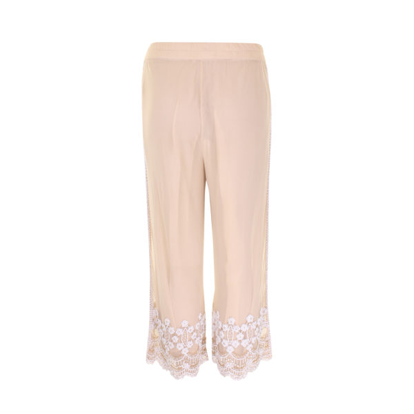 Ganni beads trousers - voorkant