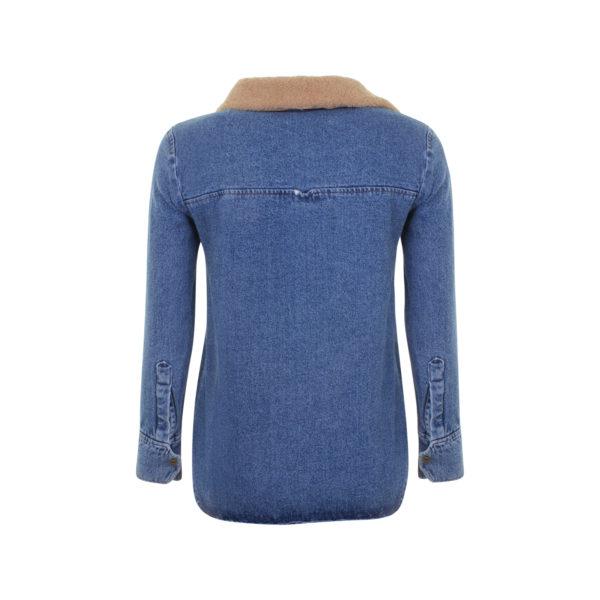 Nanushka denim shirt jacket (size S) - achterkant