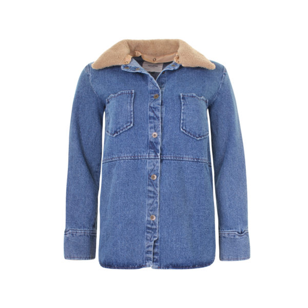 Nanushka denim shirt jacket (size S) - voorkant