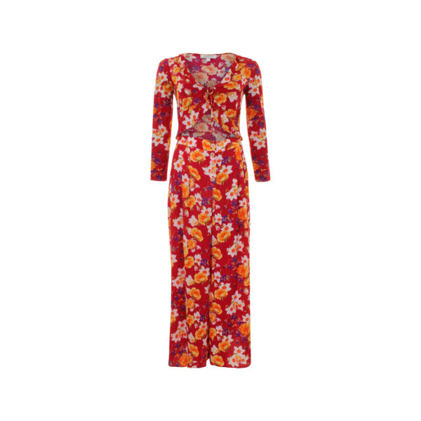 & Other Stories floral suit - voorkant