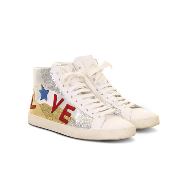 Saint Laurent signature court classic love sneakers - voorkant