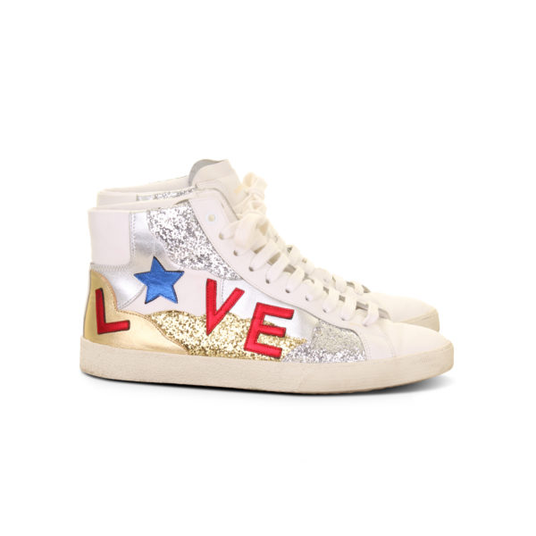 Saint Laurent signature court classic love sneakers - zijkant