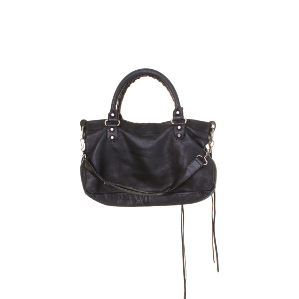 Balenciaga First Classic Studs Handbag Leather